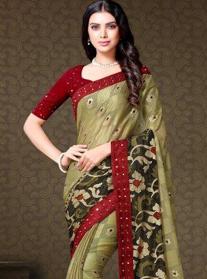 Fancy Fabric Festival Contemporary Saree