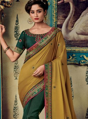 Fancy Fabric Green Designer Saree