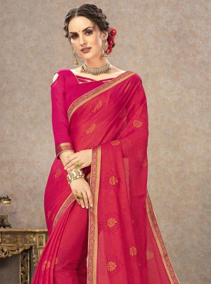 Fancy Fabric Pink Classic Saree