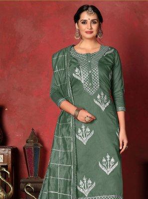 Fancy Fancy Fabric Churidar Designer Suit