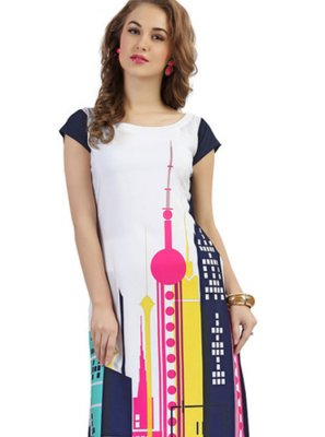 Fancy Multi Colour Casual Kurti