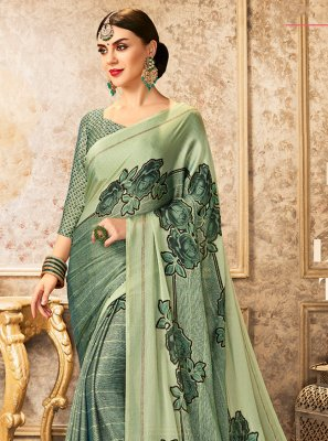 Faux Chiffon Ceremonial Contemporary Saree