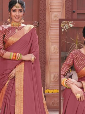Faux Chiffon Ceremonial Traditional Designer Saree