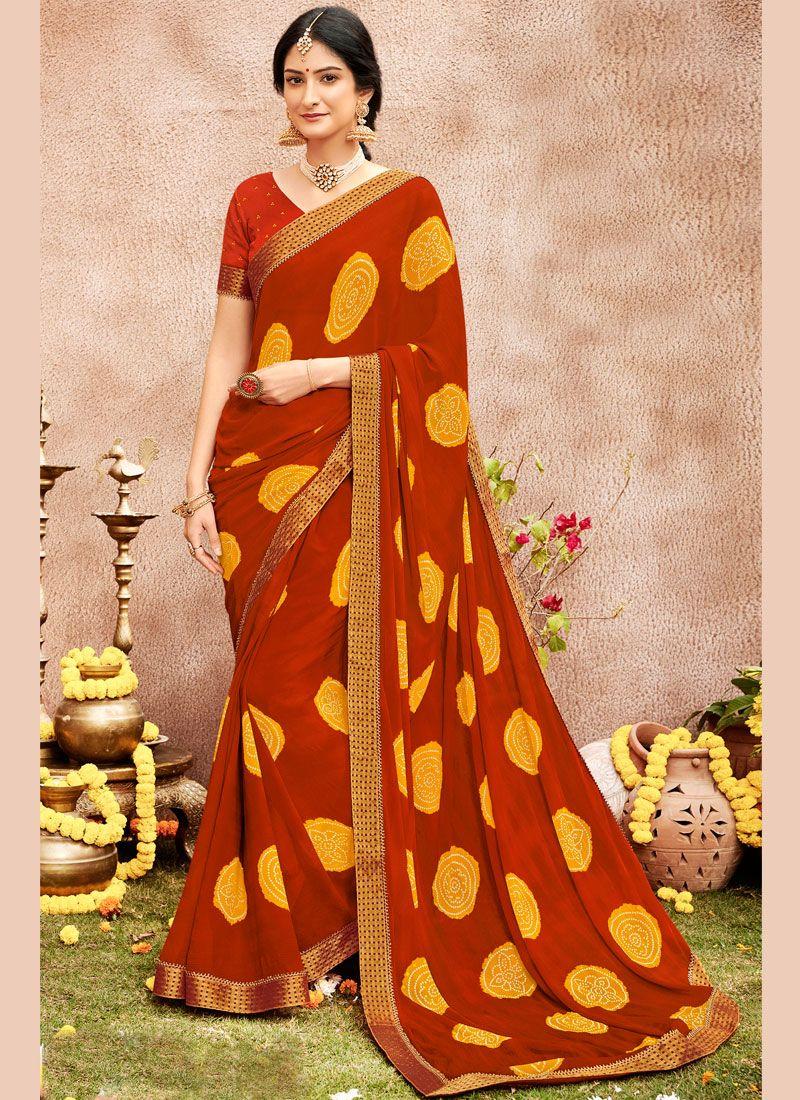 Faux Chiffon Designer Saree