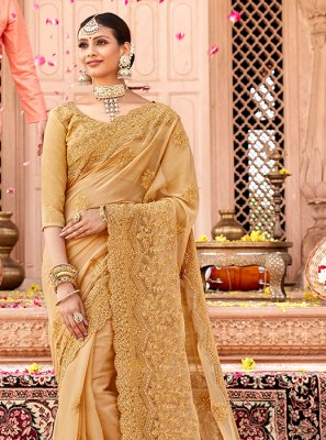 Faux Chiffon Designer Traditional Saree