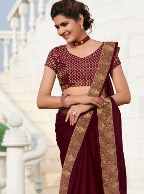 Faux Chiffon Festival Traditional Saree