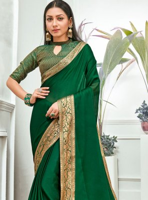 Faux Chiffon Lace Traditional Saree