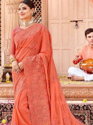 Faux Chiffon Reception Traditional Designer Saree