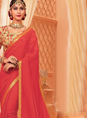 Faux Chiffon Woven Contemporary Saree