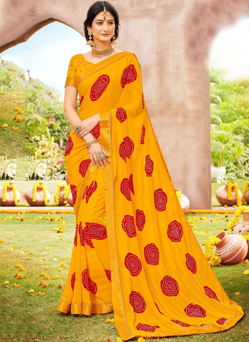 Faux Chiffon Woven Designer Saree