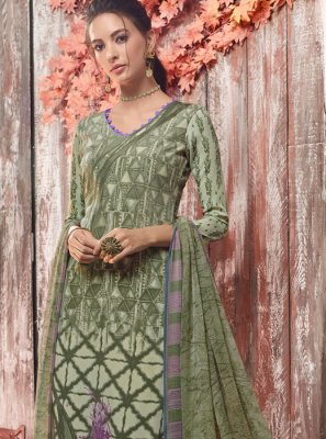 Faux Crepe Ceremonial Designer Pakistani Suit