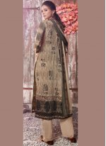 Faux Crepe Designer Pakistani Suit