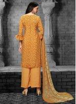 Faux Crepe Designer Salwar Kameez