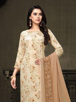 Faux Crepe Designer Salwar Suit