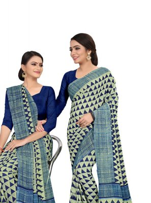 Faux Georgette Casual Printed Saree