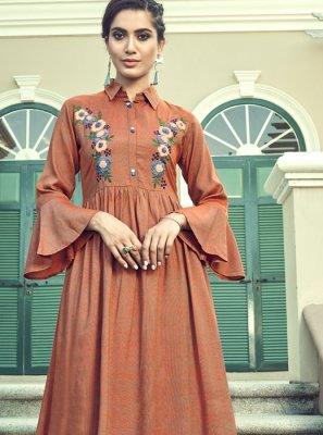 Faux Georgette Festival Designer Palazzo Suit