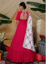 Faux Georgette Floor Length Gown