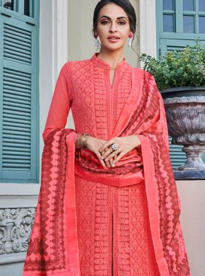 Faux Georgette Palazzo Salwar Suit