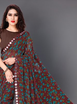 Faux Georgette Party Casual Saree