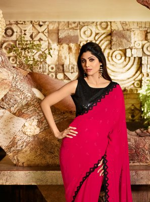 Faux Georgette Reception Traditional Saree