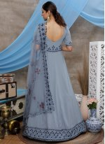 Faux Georgette Sequins Designer Gown