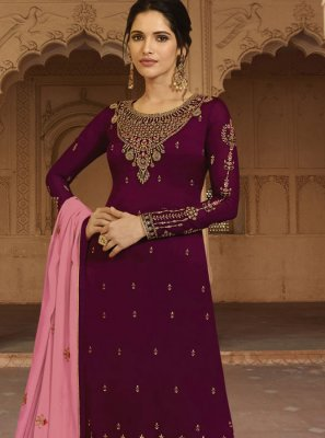 Faux Georgette Wedding Designer Salwar Kameez