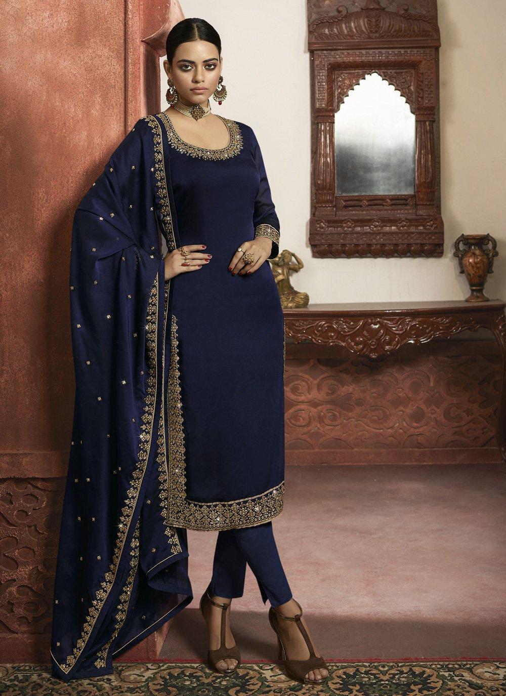 Faux Georgette Wedding Designer Salwar Suit