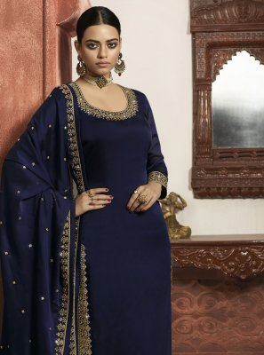Faux Georgette Wedding Designer Salwar Suit