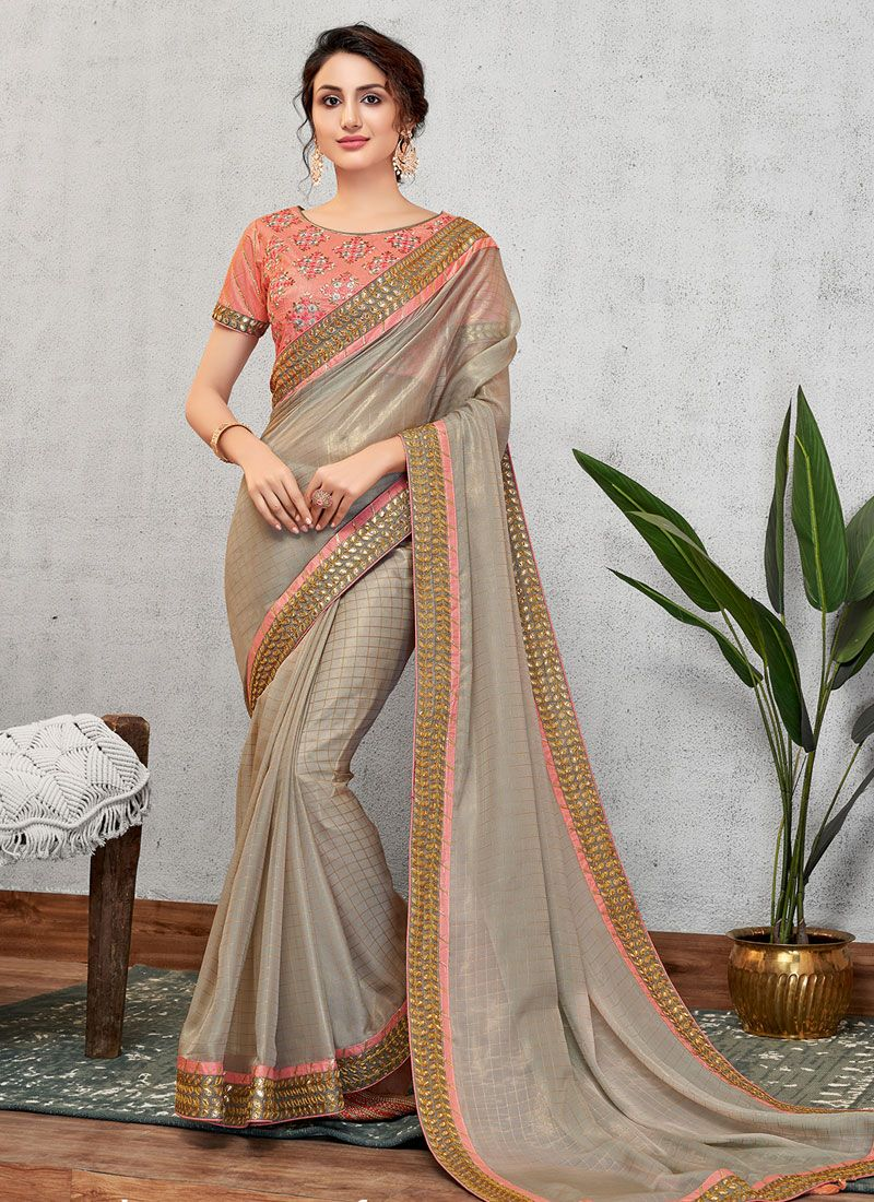 Faux Georgette Wedding Traditional Saree