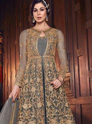 Floor Length Anarkali Suit For Reception