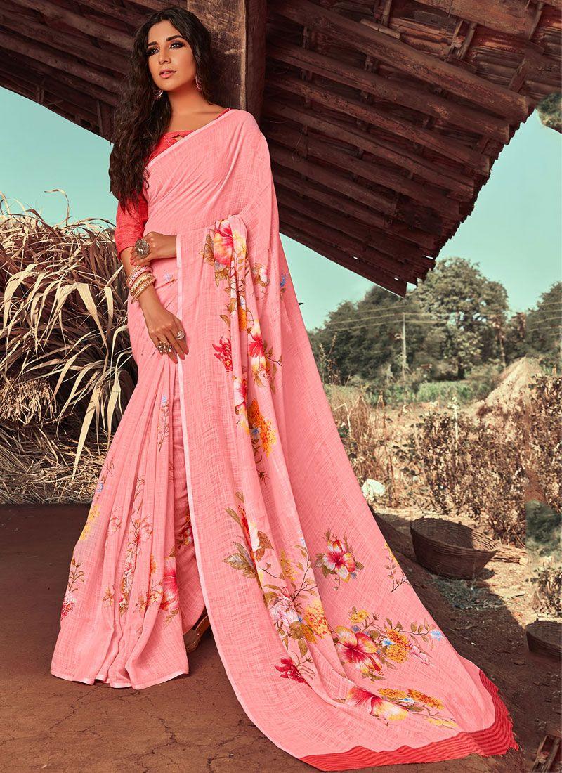 Floral Print Classic Designer Saree