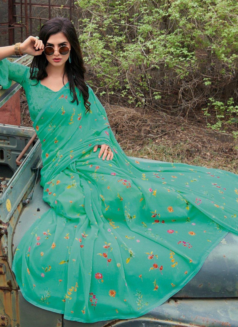 Floral Print Classic Saree