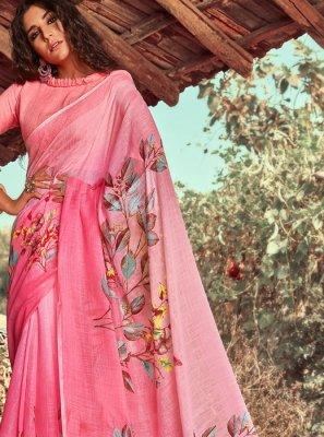 Floral Print Festival Designer Saree