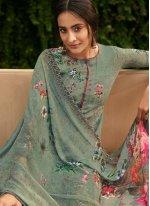 Floral Print Festival Palazzo Salwar Suit