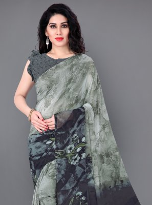 Floral Print Multi Colour Classic Saree