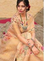 Floral Print Traditional Saree