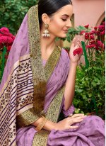 Foil print Mehndi Classic Saree