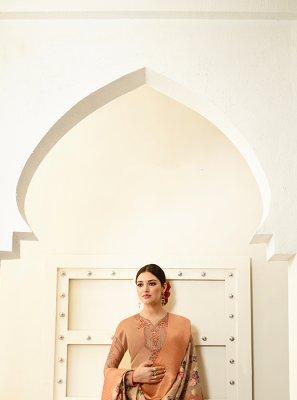 Georgette Beige Designer Saree