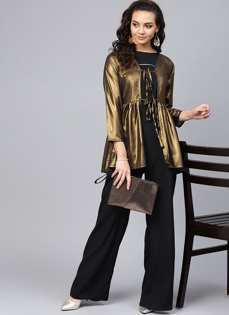 Georgette Black Party Wear Kurti