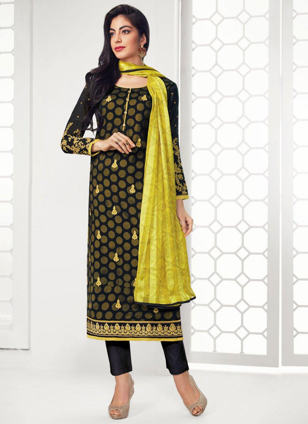 Georgette Black Salwar Suit