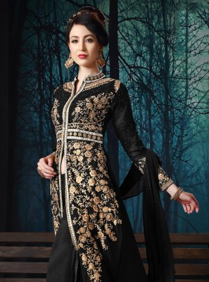 Georgette Black Salwar Suit