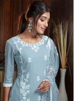 Georgette Blue Salwar Kameez