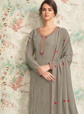 Georgette Bollywood Salwar Kameez in Grey