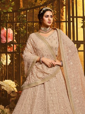 Georgette Brown Resham Lehenga Choli