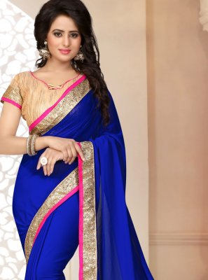 Georgette Ceremonial Saree