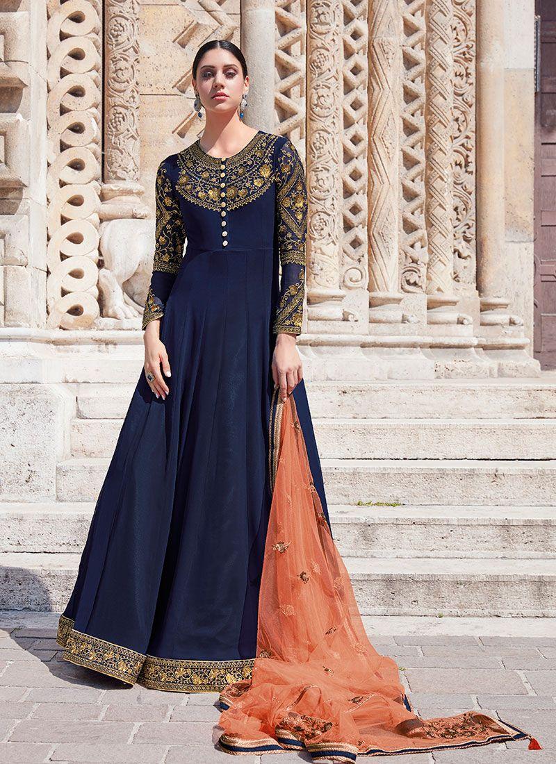 Georgette Designer Floor Length Salwar Suit