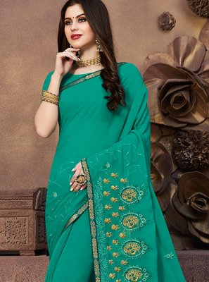 Georgette Designer Saree in Green