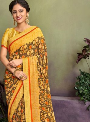 Georgette Designer Saree in Multi Colour