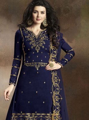 Georgette Embroidered Designer Palazzo Salwar Suit