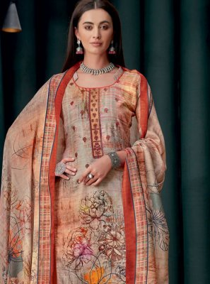 Georgette Embroidered Multi Colour Designer Palazzo Suit